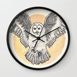 Owl Be Back Wall Clock