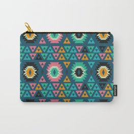 Happy ethnic shapes Carry-All Pouch