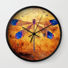 Dragonfly in Amber Wall Clock