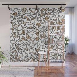 Bodies, Figures, Karate, Sepia Wall Mural