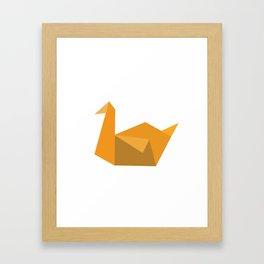 Origami Swan Framed Art Print