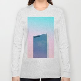 Full Crystal building with Pastel sky Long Sleeve T-shirt