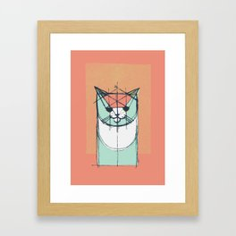 Cubist Cat Study #8 by Friztin Framed Art Print