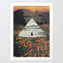 Harmony with flowers Art Print
