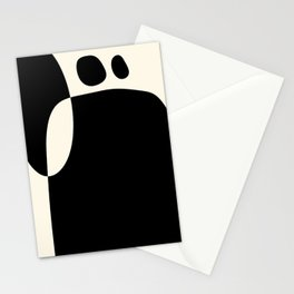 shapes black white minimal abstract art Stationery Cards