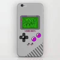 video game iPhone & iPod Skins featuring Don't Hate The Player, Hate The Game!  |  Video Game by Silvio Ledbetter