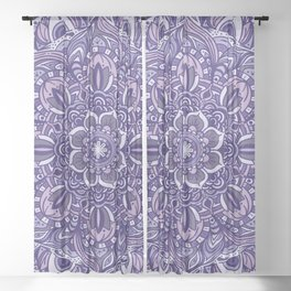 Great Purple Mandala Sheer Curtain