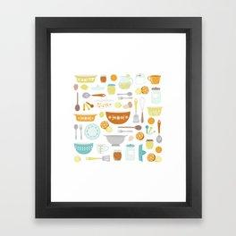 Citrus Kitchen Framed Art Print