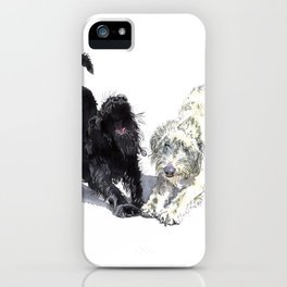 Stretching Labradoodles iPhone Case