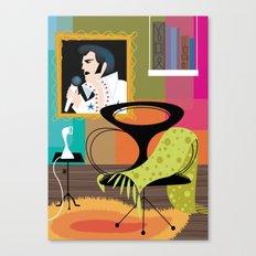 Black Velvet and a Modern Chair Canvas Print