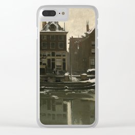 Willem Witsen  - The Oude Schans in Amsterdam - Dutch Fine Art Vintage Retro Oil Painting Clear iPhone Case
