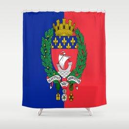 Flag of Paris 2 -Fluctuat nec mergitur Shower Curtain