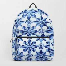 Frisia Blue White Dutch German Baltic Sea Pattern Backpack