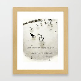Be The Blackbird Framed Art Print