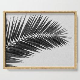 Palm Leaf Black & White I Serving Tray
