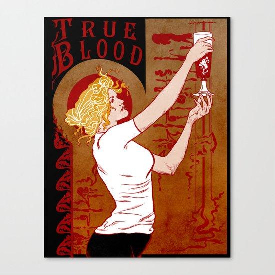 True Blood Nouveau Canvas Print
