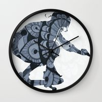 skate Wall Clocks featuring Skate by mayrarosito