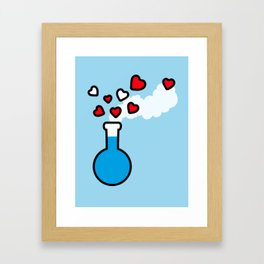 Blue and Red Laboratory Flask Framed Art Print