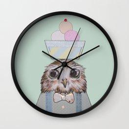 The Ice-Cream Owl Wall Clock