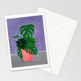 Monstera Painting Number One Stationery Cards