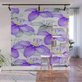 Spring Forest Blue Flowers #decor #society6 #buyart Wall Mural