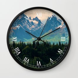 Escaping from woodland heights II Wall Clock
