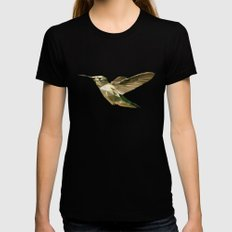 Geometric Colibri Womens Fitted Tee Black MEDIUM
