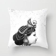 1920s Circus Queen Throw Pillow