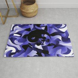 Blue Smokey Home decor Wall art Tao Yin and Yang Rug
