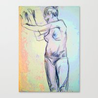 model Canvas Prints featuring Model  by LinnaDesign