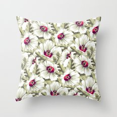 New Zealand Hibiscus Floral Print (Day) Throw Pillow