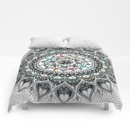 """Om"" Psychedelica Mandala Comforters"