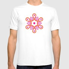 Citrus Morning Mandala Mens Fitted Tee White SMALL
