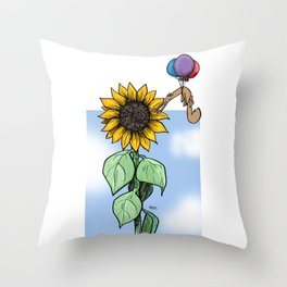 Floating toward a dream Throw Pillow