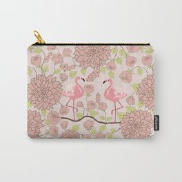 Flamingo Perch Pattern Carry-All Pouch