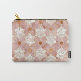 Rose Gold Art Deco Butterfly Pattern Carry-All Pouch