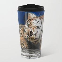 Amur Leopard - Mother and Cub Travel Mug