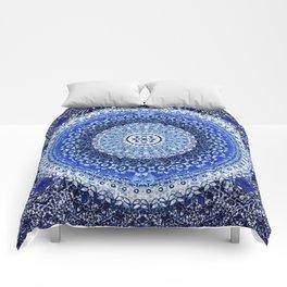 Cobalt Tapestry Mandala Comforters