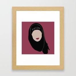 Sana Bakkoush - AWESOME Framed Art Print