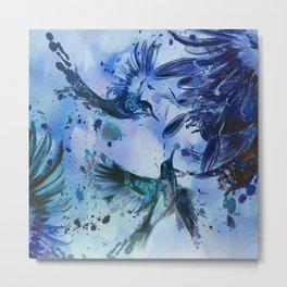 Birds In Flight Abstract Metal Print