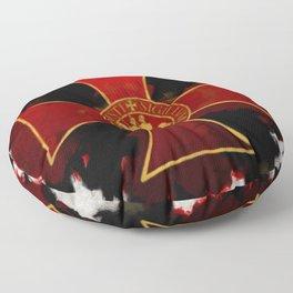 Knights Templar Cross Floor Pillow