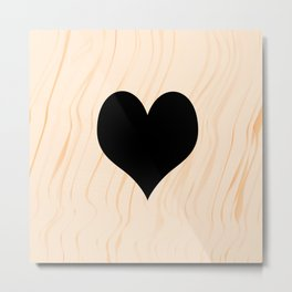 Scrabble Heart - Scrabble Love Metal Print