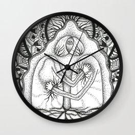 Interbeing (black & white) Wall Clock