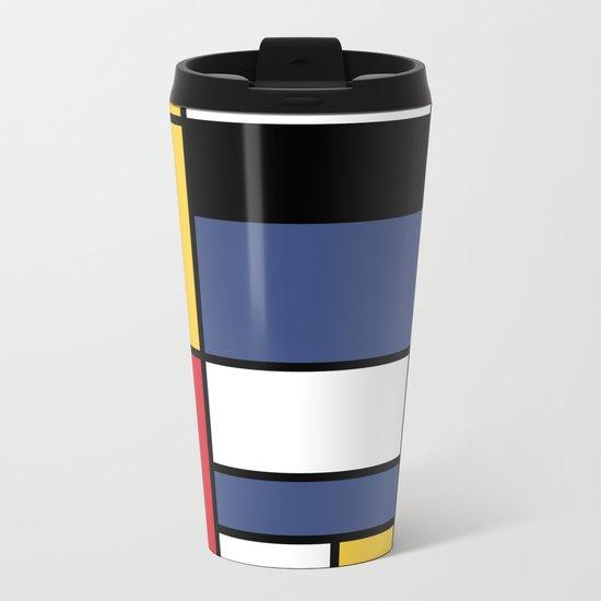 Abstraction color Metal Travel Mug