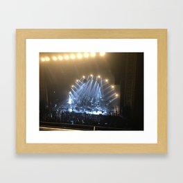 Silver & Gold Concert Framed Art Print