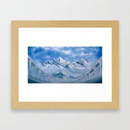 Himalayas. mountain landscape Framed Art Print