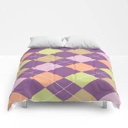 Purple Argyle Comforters
