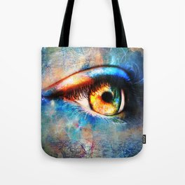 Through the Time Travelers Eye Tote Bag