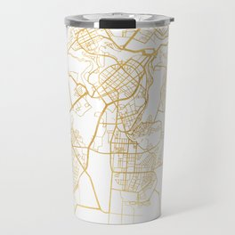 YEREVAN ARMENIA CITY STREET MAP ART Travel Mug