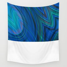 Mood Ring in Blues Wall Tapestry